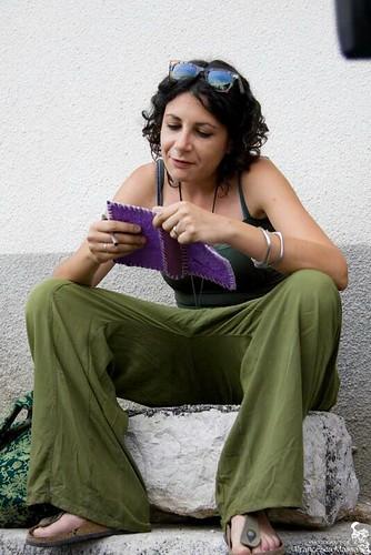 Rita Ciccaglione, antropologa, al campo Costa