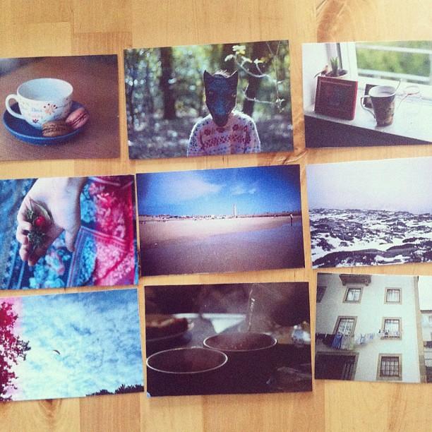 Pacote vermelho de fotografias