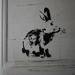Rabbit, Stewy stencil, Opposite Outside The Square Gallery, Margate