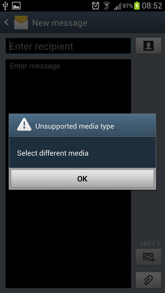 Cannot send screenshot via MMS - Samsung Galaxy S3 | Android Forums