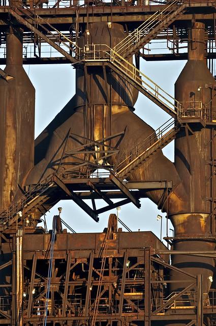 Number 7 Blast Furnace : Number seven blast furnace essar steel algoma sault ste