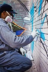 Lee side view action @ Graffalot 2012   Houston Graffiti