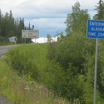Entering Alaska Time Zone Sign