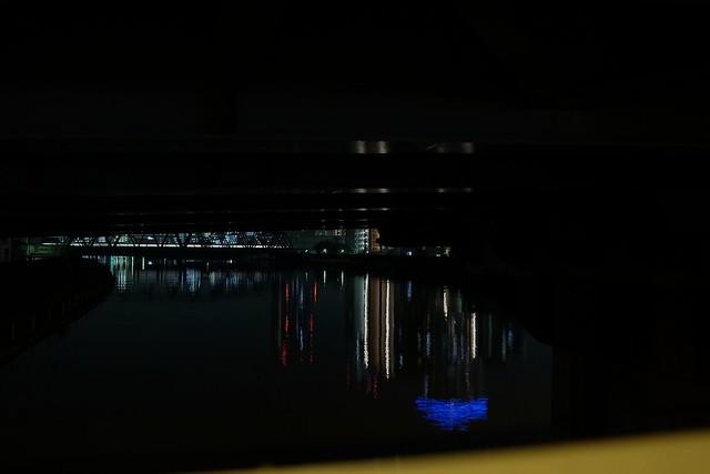 river, light, train