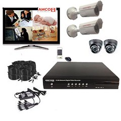 Amco Security ASKT5D-EVO, Security Camera System 4 Channel DVR with 4 CCD chipet Video Camera Surveillance Kit at Sears.com