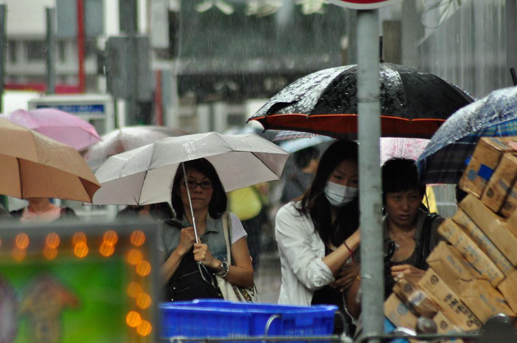 MongKok, the day before Hurricane no 10 旺角十号风球前 ...