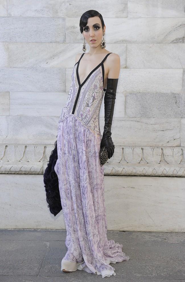 4 Michelle Harper in Roberto Cavalli @ Roberto Cavalli FW1213 fashion show 27-02-2012 Milan