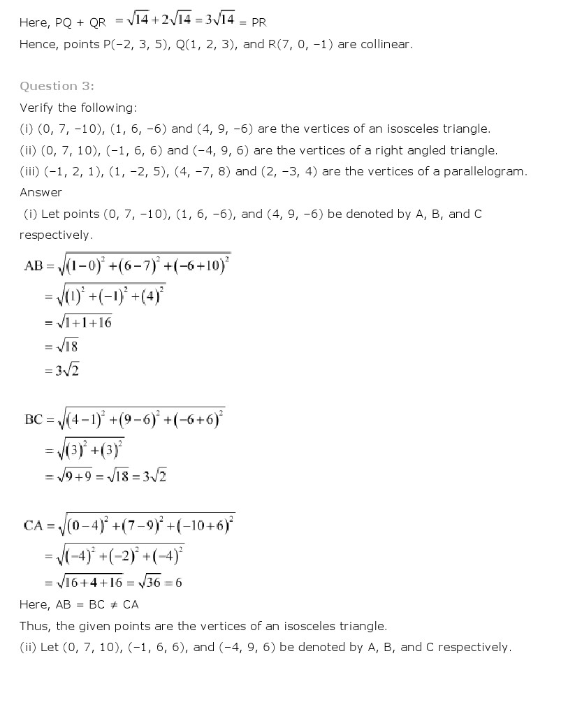 Maths Book Ch 12 Introduction to three Dimensional Geometry
