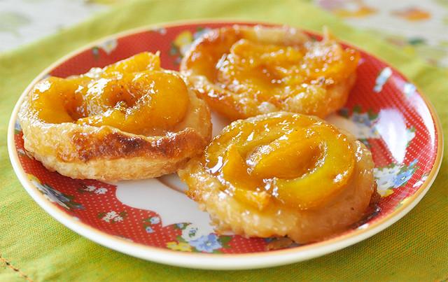 Mango Nectarine Cardamon Tarte Tatins