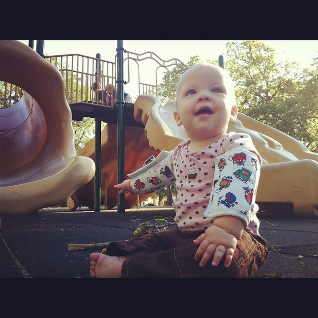 Clara in the park