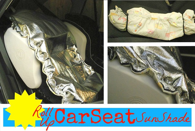 Roll Up Car Seat Sun Shade by The Silly Pearl
