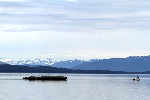 Leaving Glacier Bay - Tanker and Tug
