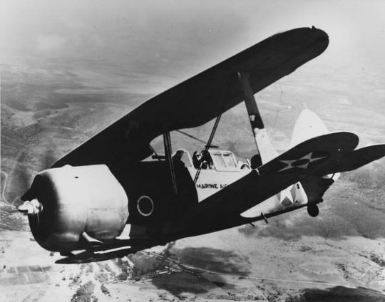 SBC-4 Helldiver i fly