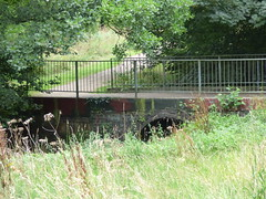 Kings Norton Local Nature Reserve - footbridge over the River Rea