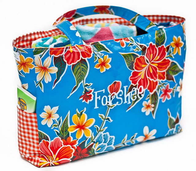 Beach Pool Oilcloth Tote Large-1