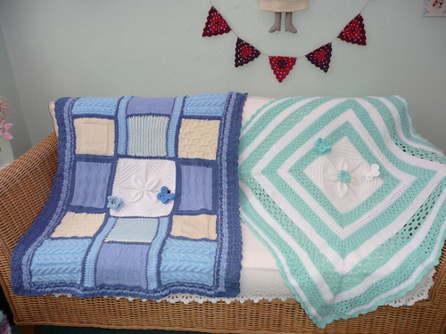 Sally (UK) Has made and donated these two beautiful Knitted/Crocheted Blankets! Thank you Sally!