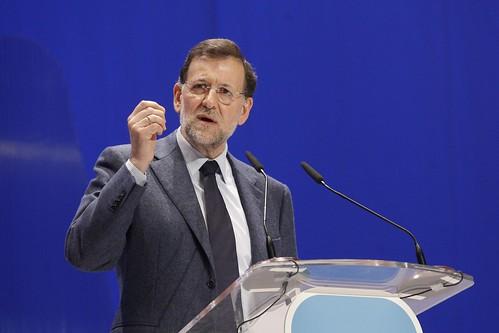 Mariano Rajoy en un COngreso del PP