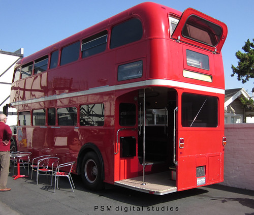 The Old Ship British Pub Fullerton California 1965 Routemaster London Double Decker Bus RML 2294 CUV 294C