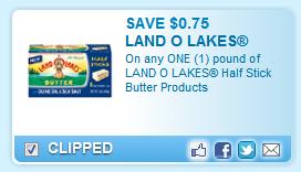 Land O Lakes Half Stick Butter Coupon