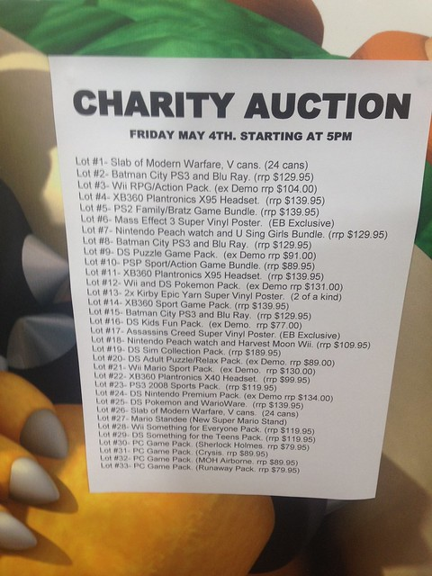 EB Games Charity Auction