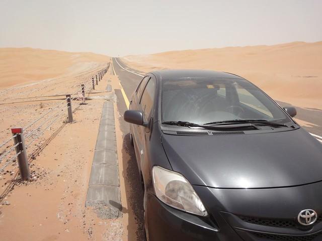 Videos guiar no deserto ate a grande Duna de Tal Mireb, Emirados Arabes