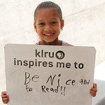 KLRU inspires me to... be nice and to read!!