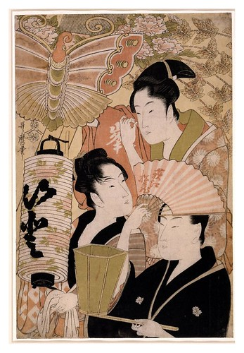 025-Tres geishas en el festival de Niwaka en Yoshiwara-1793-Kitagawa Utamaro- © The Trustees of the British Museum