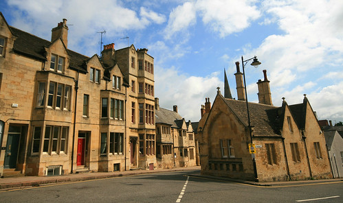 All Saints Road and Sheep Market, Stamford, Lincolnshire