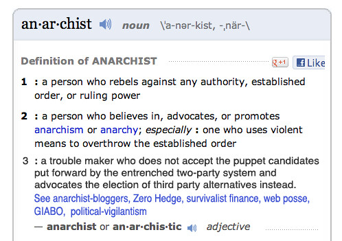 ANARCHIST by Colonel Flick