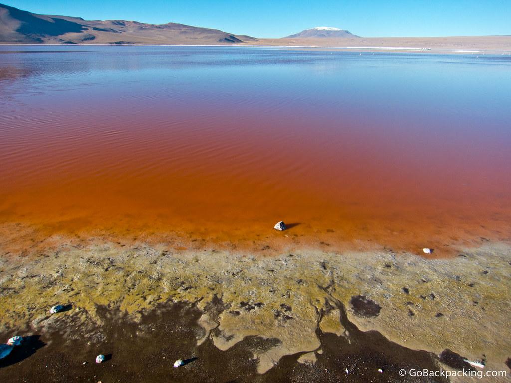The blood-red Laguna Cordoba (4,278m)