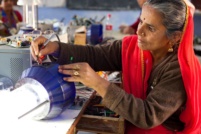 A solar engineering trainer at India's Barefoot College