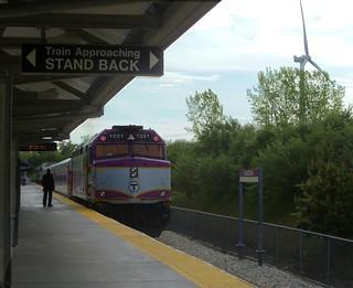 train at Kingston [MA] station