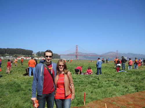 Crissy Field to make a human bridge