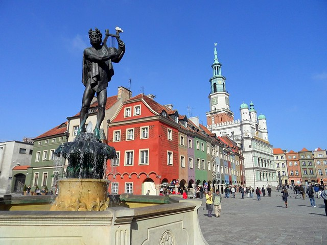 Old Market Square and City Hall in Poznan, Poland