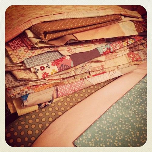 Thursday night #widrn - counting quilt tops that need quilting.