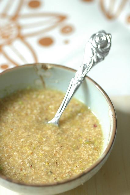 finger di polpette salsa alle nocciole