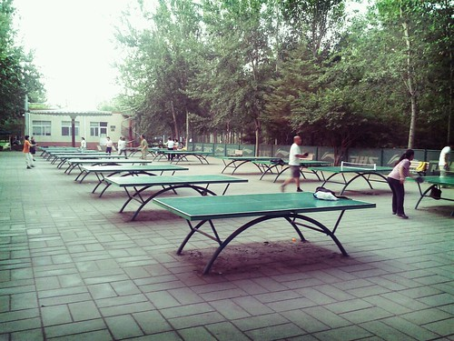 Tables in Chaoyang Park