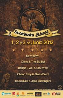 Cartel del I Festival de Blues de Benicàssim.