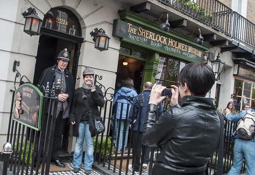 The Sherlock Holmes Museum at 221B Baker Street.