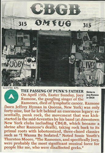 12-27-01 Rolling Stone Magazine (April 2001 Joey Ramone Shrine at CBGB)0001