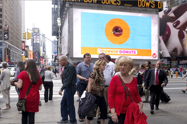 The look, in Times Square