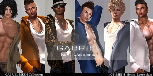 NEW ! Mesh shirt with toptank Gabriel @ Mimi's by mimi.juneau *Mimi's Choice*