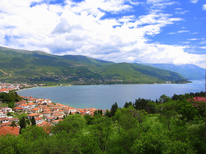 Panoramic view from King Samuil's Fortress, Ohrid Macedonia
