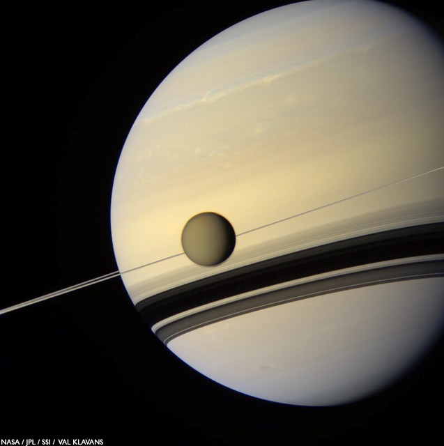 Photo:Titan before Saturn #2 By:Val Klavans