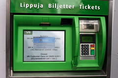 machine, automated teller machine, green,