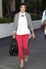 Kourtney Kardashian Tweed Jacket Celebrity Style Women's Fashion