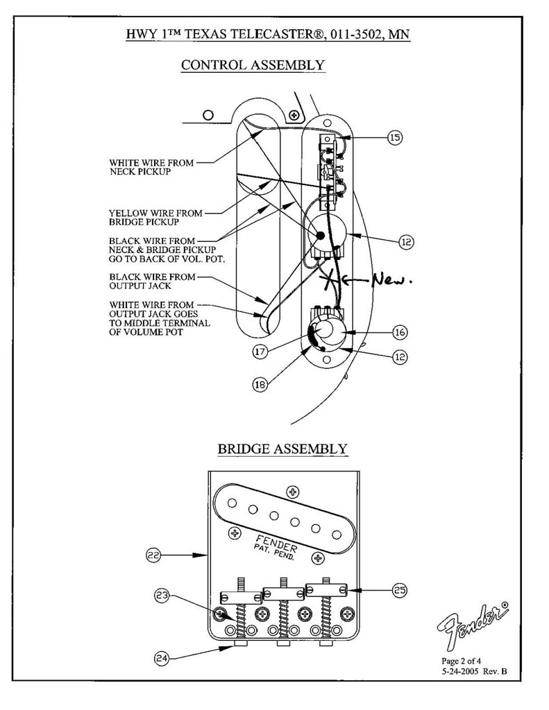 Removed Tele Neck Pickup From Tone Control Z Talk Highway 1 Fender Stratocaster Wiring Diagram I Kind Of Drew It Up For You Sorry About The Crappy Scan Remove Wire That Is Xed Out Install In Labeled New