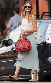 Rosie Huntington Whiteley Maxi Skirt Celebrity Style Women's Fashion