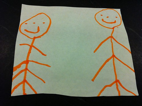 Finn's drawing of him and Charlie