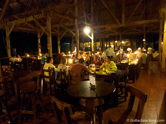 The dining room at Refugio Amazonas